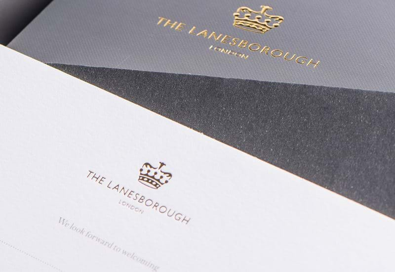 The Lanesborough Hotel London Logo Paper Bags