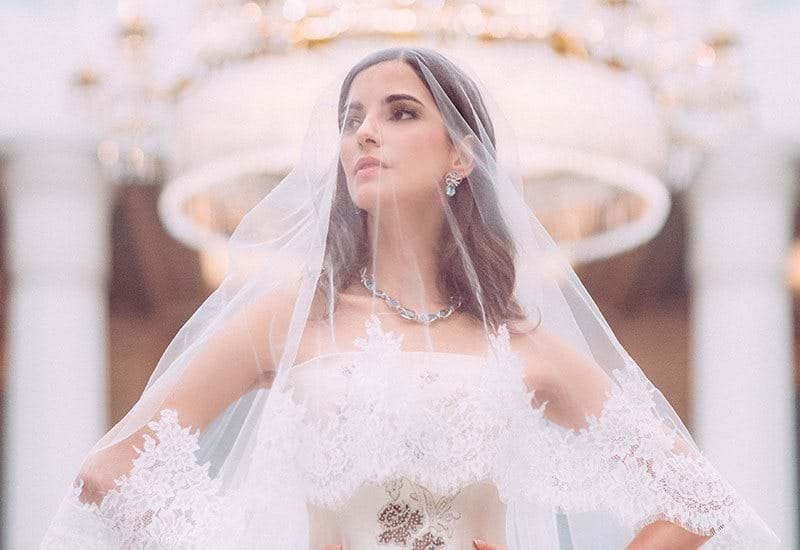 The Lanesborough London Bride With Veil Overhead Inside Celeste