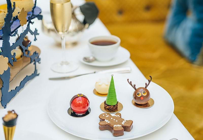 The Lanesborough London Festive Afternoon Tea Reindeer And Christmas Tree Pastry